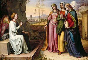 Las Marías ante el Santo Sepulcro, por Peter von Cornelius, s.XIX.
