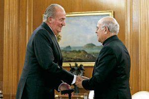 Monseñor Blázquez y el rey Juan Carlos.