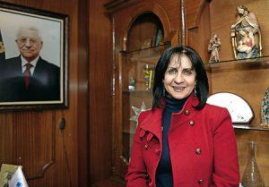 Vera Baboun, alcaldesa de Belén.