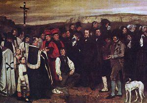 Entierro en Ornans, por Gustave Courbet (1850).