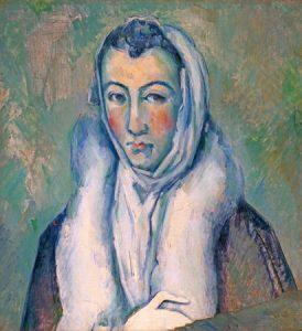 La dama de armiño, de Cézanne.