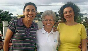 María Eugenia, Elda y Ana Silvia.