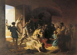 Cristianos mártires en el Coliseo (Flavitsky, 1862). [ampliar]
