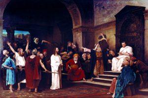 Cristo ante Poncio Pilatos, por Mihály Munkácsy (1881).