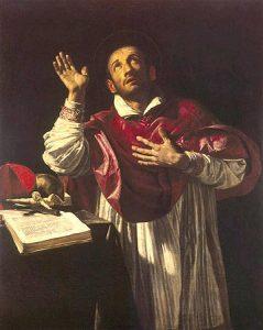San Carlos Borromeo, por Borgianni (s.XVI).