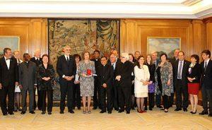 La reina Sofía con el Consejo de Administración de FIUC el pasado marzo.