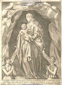 Mapuches orando a la Virgen (1646).