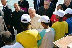 Francisco en Lampedusa  hace año.