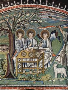 Huéspedes de Abraham (Ravenna, año 547).