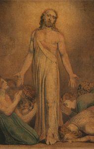 Cristo resucitado, por William Blake (detalle, circa 1800).