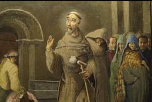 San Francisco de Asís predicando en el postigo del alba de la catedral de Ciudad Rodrigo.