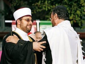 Abrazo islamo-judío en Washington.