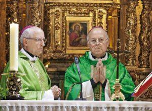 Burillo (izda) y Blázquez en la celebración del 452º aniversario del Convento de San José.