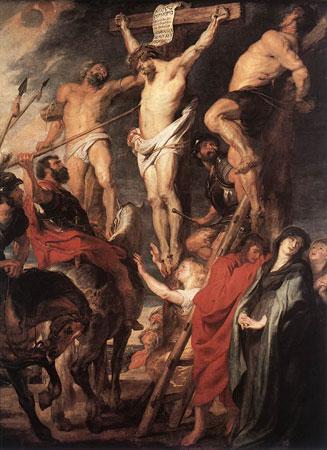 Cristo en la curz, Rubens (1619) [ampliar]