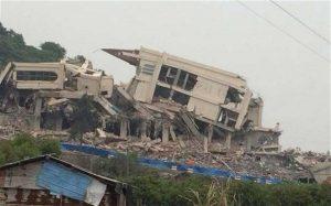 Iglesia demolida en Wenzhou el pasado abril. The Telegraph