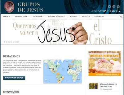 web de los Grupos de Jesús promovida por PPC Editorial