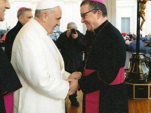 Bergoglio y Landel en febrero de este año.