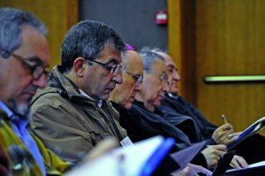 Carlos Osoro, en el centro, participó en las jornadas el domingo 16