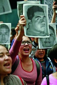 Protesters gather in Mexico City, demand more information about 43 missing students