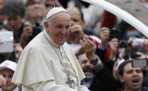 Pope Francis arrives to lead general audience in St. Peter's Square