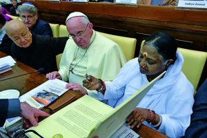 Pope Francis joins other faith leaders at ceremony in observance of U.N. Day for the Abolition of Slavery