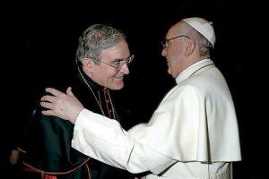 cardenal Lluís Martínez Sistach y papa Francisco