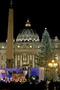 Vaticano decoración navideña Plaza de San Pedro 2014