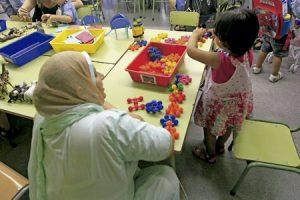 niños musulmanes en el aula en la escuela