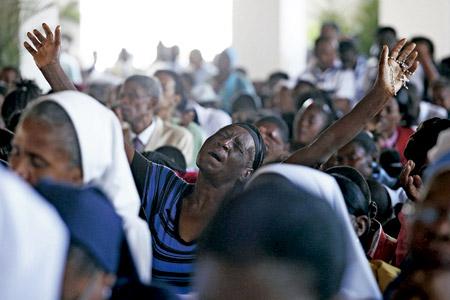 misa de inauguración de la catedral de Haití después del terremoto 2010