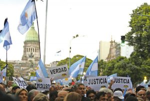 Manifestación por el esclarecimiento del caso Nisman