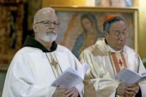miembros del C-9 cardenal Seán OMalley, arzobispo de Boston, y cardenal de Managua, Óscar A. Rodríguez Maradiaga