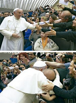 papa Francisco con Jorge Oesterheld, director de Vida Nueva Cono Sur