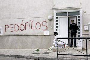 pintada en un templo en Granada después del caso de abusos sexuales