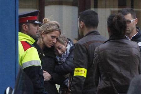 familiares de víctimas fallecidas en el accidente de avión alemán 24 marzo 2015