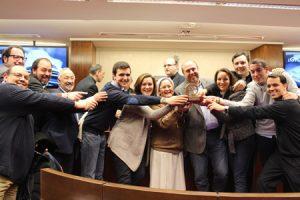miembros de iMisión juntos al resto de galardonados con los Premios ¡Bravo! 2014 de la CEE