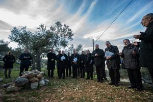 Imágenes del arzobispo Vives durante último viaje a Tierra Santa