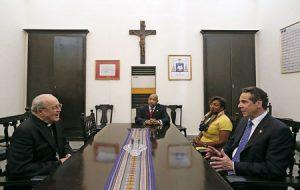 cardenal Jaime Ortega, de La Habana, y Andrew Cuomo, gobernador del Estado de Nueva York