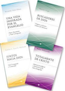 libros-publicaciones-claretianas 'Una vida inspirada por el Evangelio', 'Buscadores de Dios', 'Juntos hacia Dios' y 'Totalmente de Cristo'