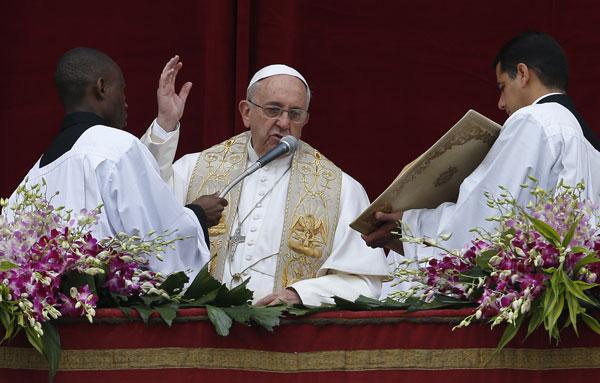 bendición Urbi et Orbi 2015 papa Francisco