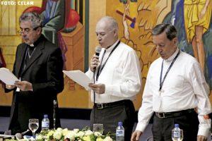 Asamblea General del CELAM mayo 2015 en Santo Domingo, Santiago Silva, Carlos Aguiar y Rubén Salazar
