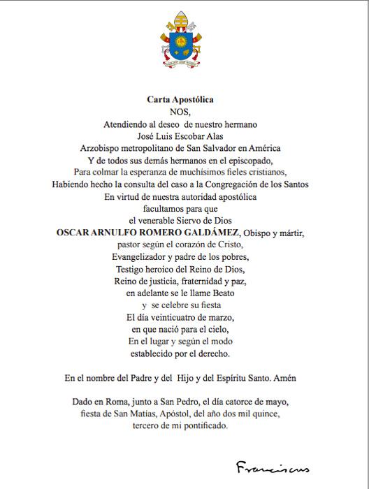 El Beato Romero Es Simbolo De Paz De Concordia De Fraternidad in addition Proclaman Salvadoreno Oscar Arnulfo Romero 0 809619372 further 10 Frases De Emiliano Zapata Verdadero in addition Templo Votivo De Maip Revista 1619252 further Inicia Ano Jubilar Por Bicentenario De Don Bosco. on monsenor romero simbolo