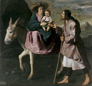 Huida a Egipto, Francisco de Zurbarán