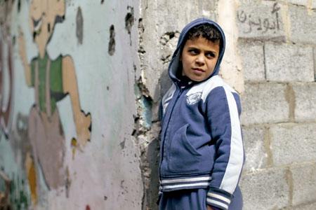 niño palestino en Gaza