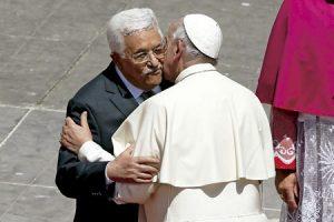 encuentro entre el papa Francisco y Mahmoud Abbas presidente de Palestina en el Vaticano 17 de mayo 2015