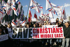 Protestas cristianos refugiados