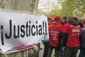 Manifestacion de trabajadores de Cocacola