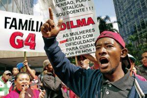 Protesta del Movimiento de Trabajadores Sin Techo (MTST) en São Paulo