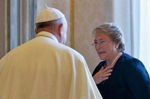 Michelle Bachelet y el Papa