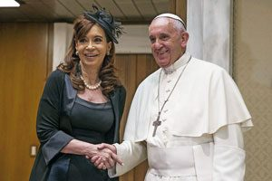 Cristina Fernández de Kirchner y Francisco