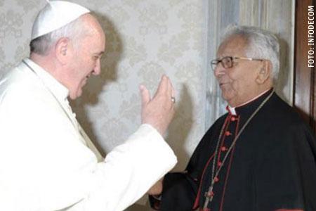 papa Francisco y el cardenal Julio Terrazas, Bolivia